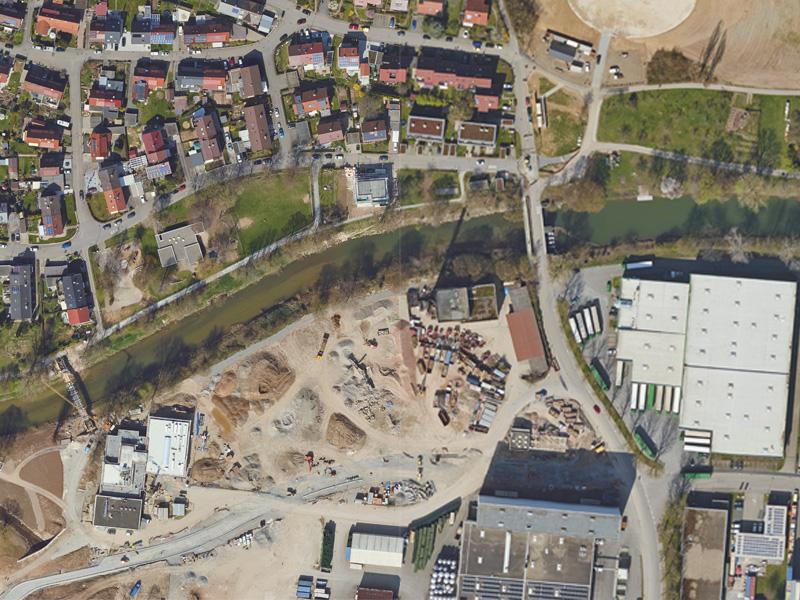 Luftbild Birkel Areal Weinstadt