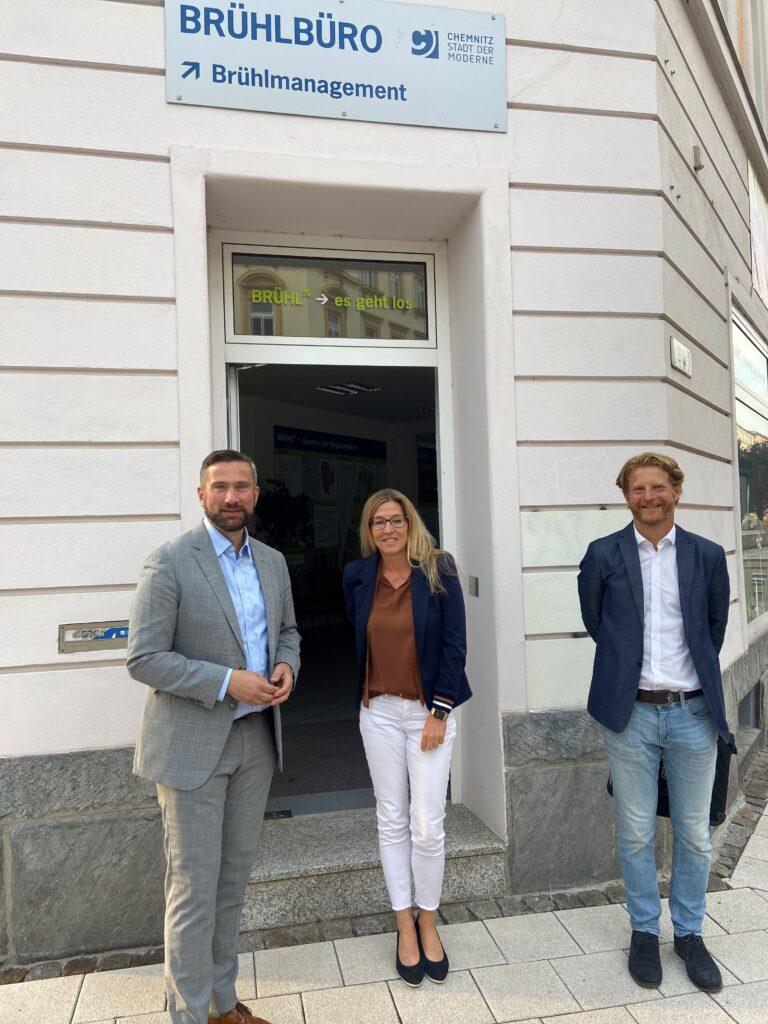 Chemnitz Wirtschaftsminister Dulig zu Gast auf dem Brühl